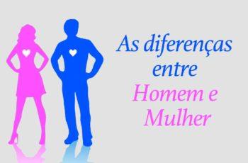As diferenças entre homem e mulher